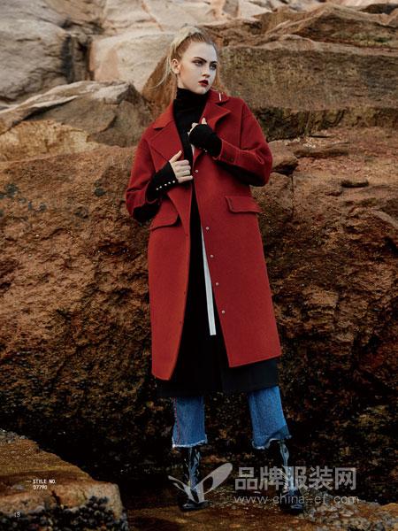 你即永恒女装2018秋冬中长款长袖韩版修身显瘦时尚女装外套