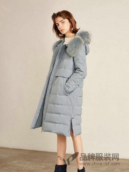 莉莉女装2018冬季直筒显瘦貉子毛毛领中长款羽绒服外套