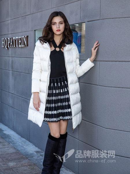 图案女装2018秋冬中长款韩版修身棉衣女加厚加棉外套
