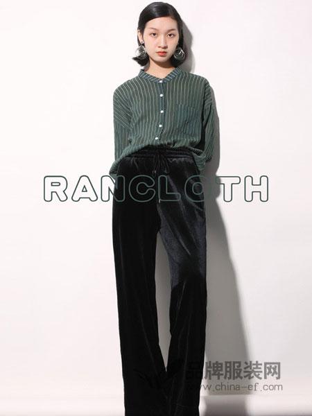 然可时女装2018秋冬新款 黑色系带百搭舒适阔腿裤长裤