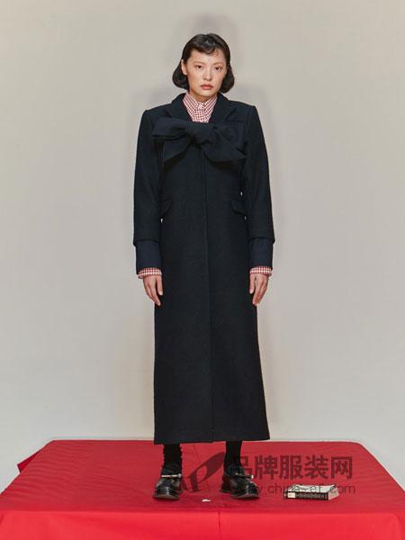 SHUSHU/TONG女装2018秋冬个性大领边双面手缝羊毛大衣