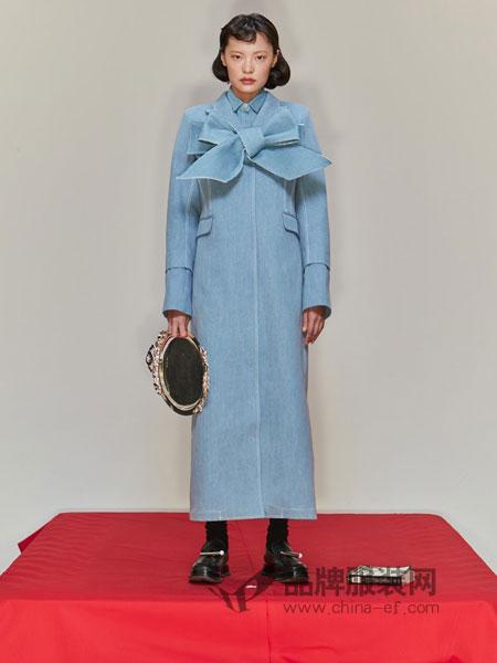 SHUSHU/TONG女装2018秋冬羊毛双排扣长款毛呢大衣外套