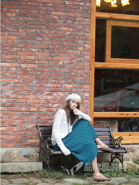 hemp life棉麻生活馆女装2018秋冬新款百褶高腰包臀裙子