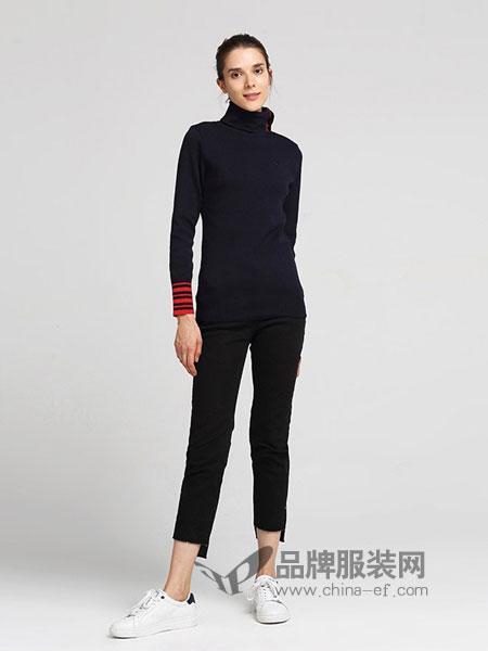 bean pole休闲2018秋冬新品时尚高领毛衣 修身高领打底衫