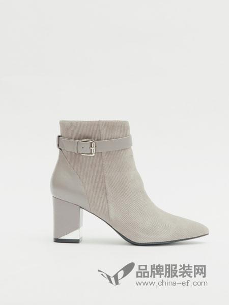 Le saunda莱尔斯丹鞋拼接休闲女靴