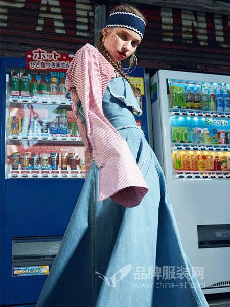卡贝奈尔女装2018秋冬拼色韩版宽松小个子薄款风衣中长款外套