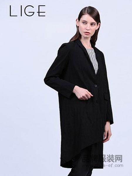 三淼女装西装式风衣外套气质淑女时尚百搭大衣