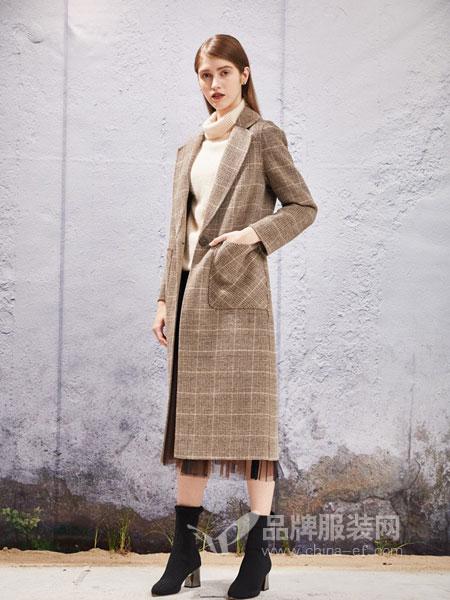 YOSUM衣诗漫女装2018秋冬羊毛呢外套中长款韩版修身双面羊绒大衣