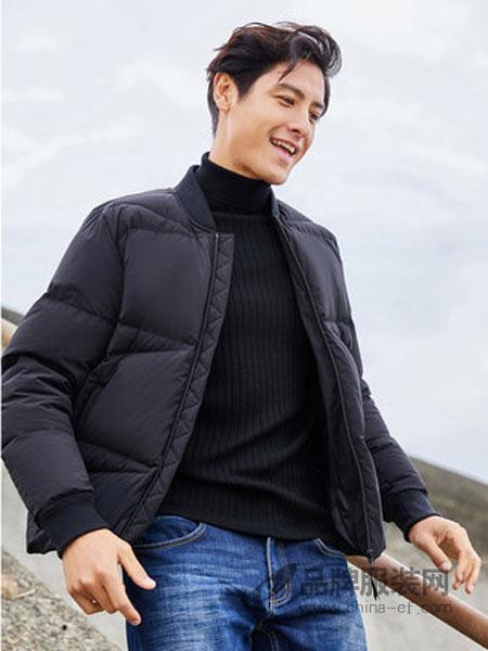 棉先生女装2018冬季男士时尚立领印花夹克