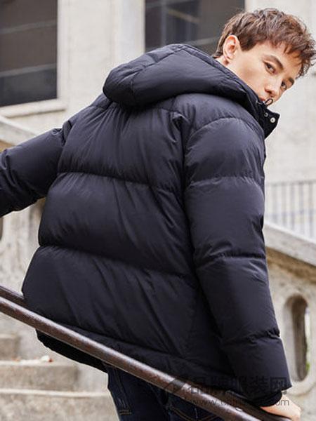棉先生女装2018冬季四面弹绗线连帽羽绒服加厚短款保暖外套