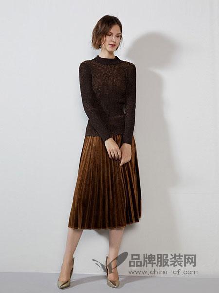 傲丝度女装2018秋冬圆领韩版修身显瘦小衫打底针织衫