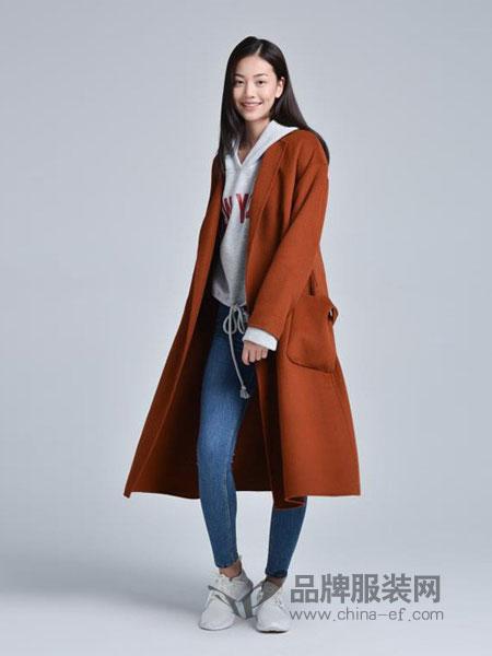 蔓瑞兰熙女装2018秋冬长款宽松显瘦水貂绒大衣带扣厚外套