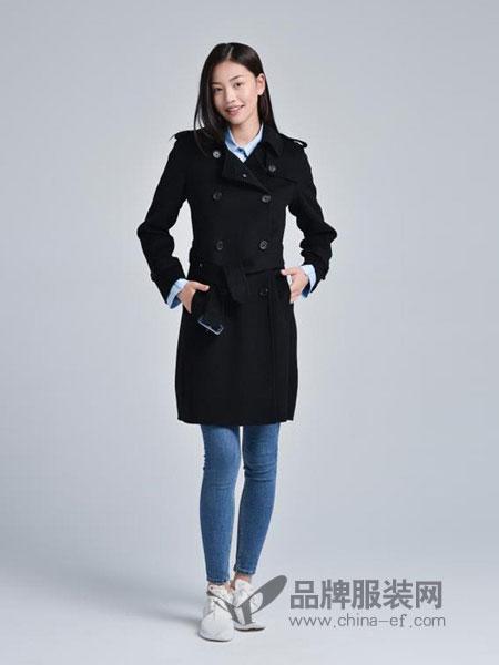 蔓瑞兰熙女装2018秋冬新款休闲中长款修身显瘦外套