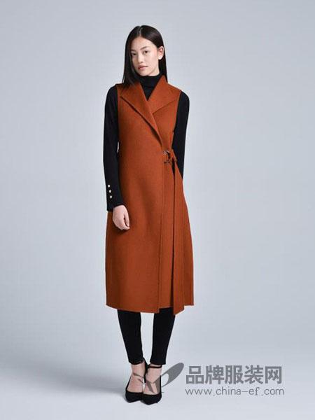 蔓瑞兰熙女装2018秋冬新款羊毛大衣中长款双面呢子修身外套