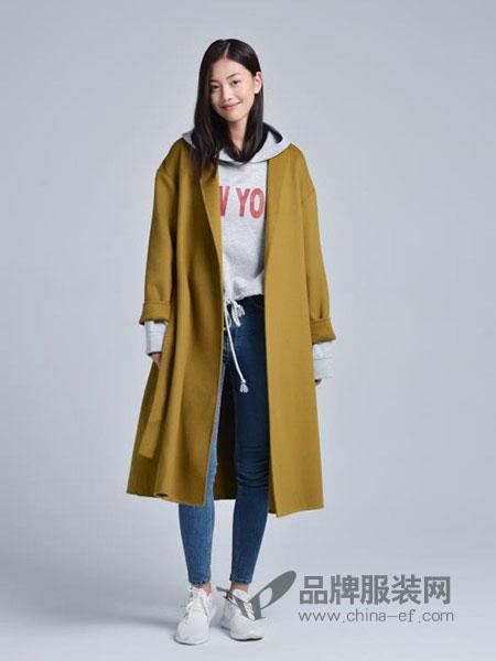 蔓瑞兰熙女装2018秋冬新款双面呢中长款韩版修身外套