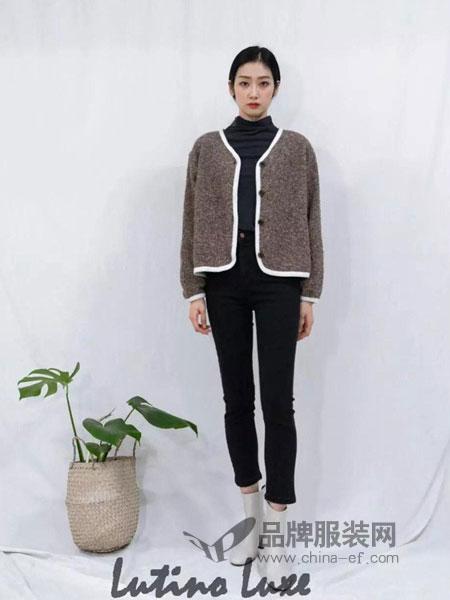 Lutino Luxe女装2018秋冬宽松显瘦舒适百搭韩范开衫