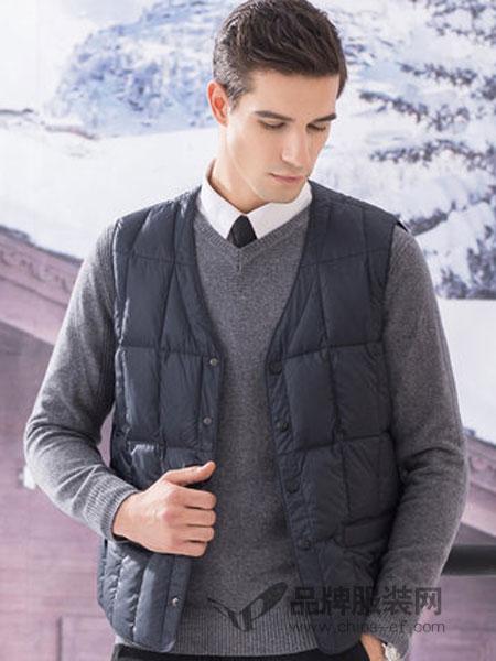 传奇保罗男装2018冬季羽绒服内胆短款休闲马夹背心外穿