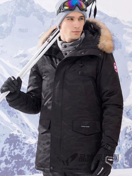 传奇保罗男装2018冬季中长款貉子毛领保暖连帽外套