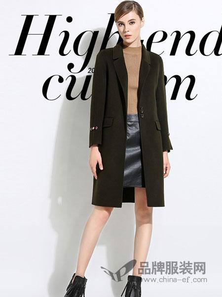 依贝奇女装2018秋冬黑色中长款修身外套