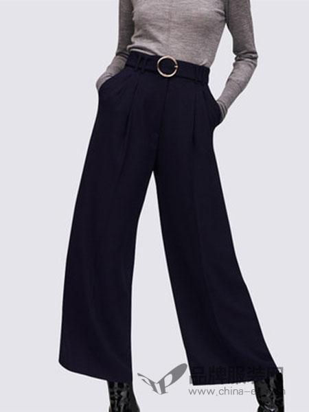 玛依尔女装2018冬季宽松显瘦休闲裤