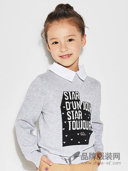 Nouvelle kids童装2018秋冬毛衣儿童假两件线衫