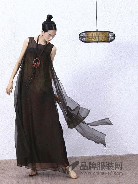 tempo女装麻风连衣裙