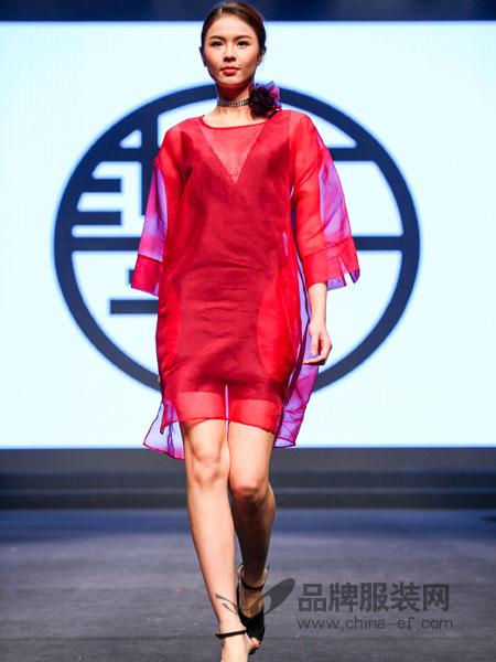 tempo女装原创设计两件套透视连衣裙