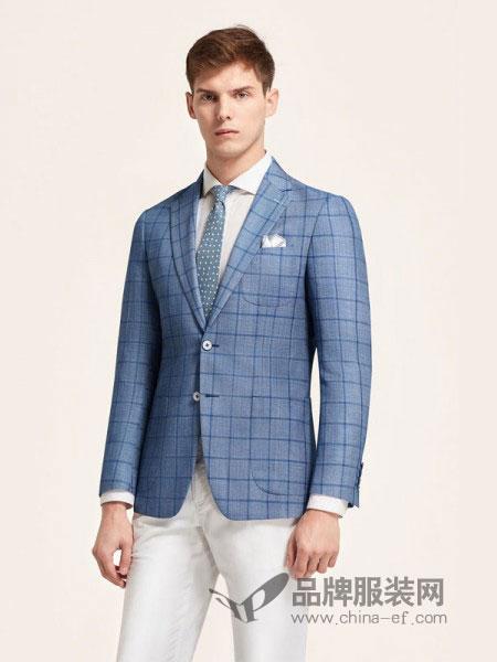 裁圣男装2018秋冬新款韩版格纹单西西装时尚商务正装外套