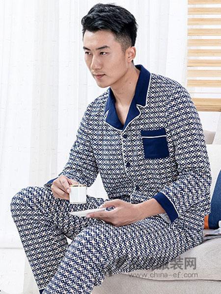 好兰朵内衣2018秋冬长袖棉质大码睡衣中年睡衣家居服