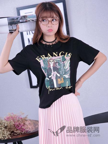 寂索女装图案短袖T恤