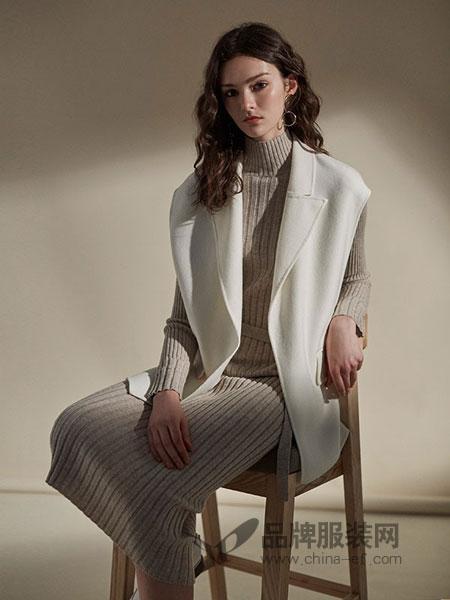卡邦尼女装2018秋冬气质修身显瘦双面羊绒大衣