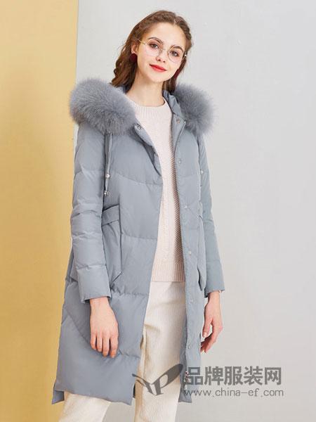 春美多女装2018冬季新款时尚抽绳收腰修身连帽长袖外套