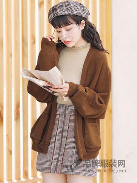 Candie's女装2018秋冬韩版休闲宽松开衫毛衣薄外套长袖