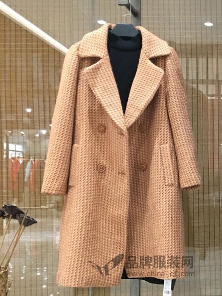 季歌品牌折扣女装女装2018秋冬双面羊毛呢大衣中长风衣外套