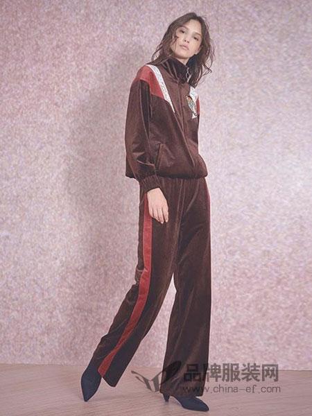 贝尔尼尼女装2018秋冬新款时尚气质宽松显瘦大码休闲运动两件套
