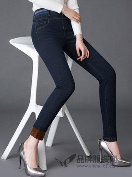 靓丽多女装2018冬季高腰弹力保暖长裤子