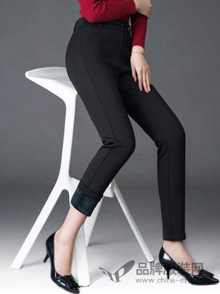 靓丽多女装2018冬季高腰显瘦保暖长裤子