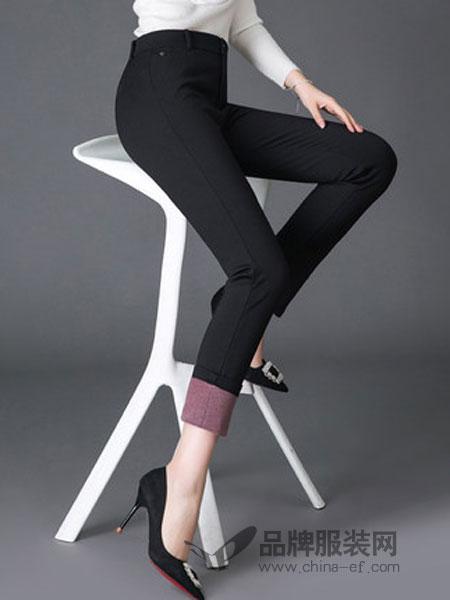 靓丽多女装2018冬季加厚休闲裤女灯芯绒条绒裤