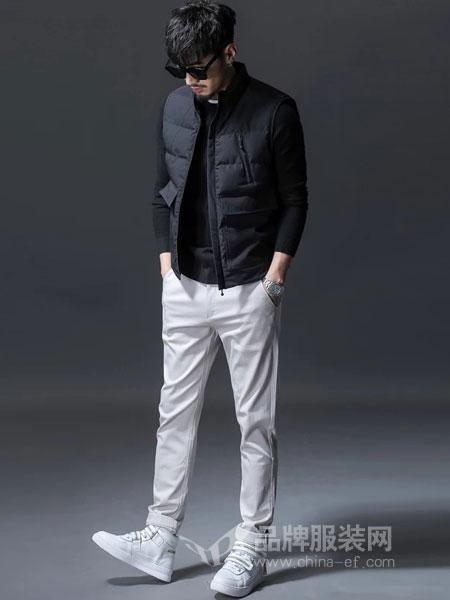 GKKESN积客绅男装2018冬季帅气立领白鸭绒羽绒衣外套 黑色