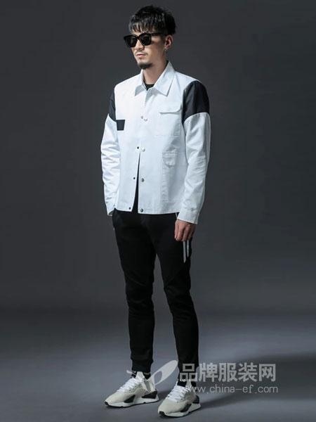 GKKESN�e客�男�b2018冬季撞色拼接�L袖衫