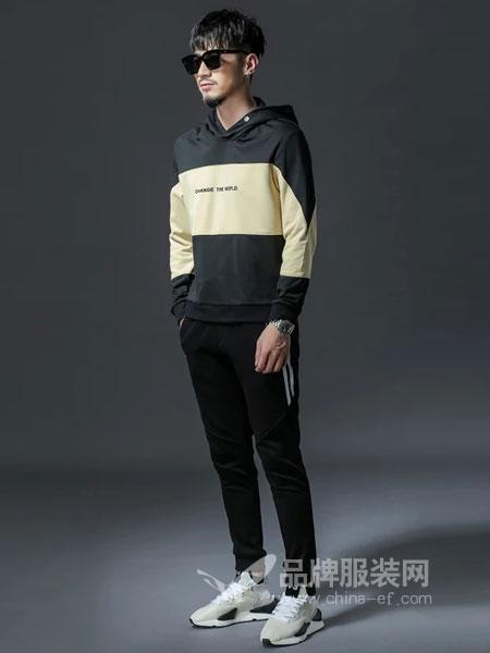 GKKESN积客绅男装2018冬季新款套头韩版外套长袖上衣帽衫潮