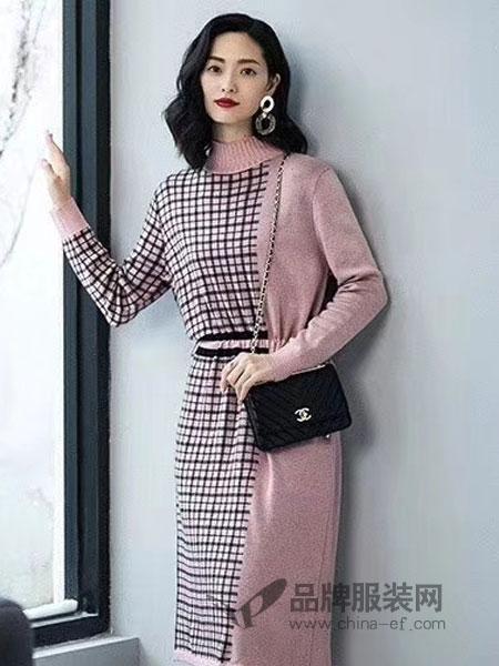 优衣美女装2018秋冬新款中长款显瘦时尚气质中长裙