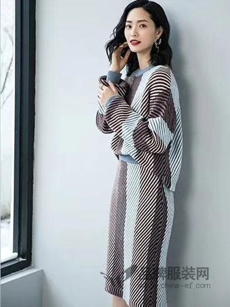 优衣美女装2018秋冬新款两件套裙洋气气质修身显瘦时尚