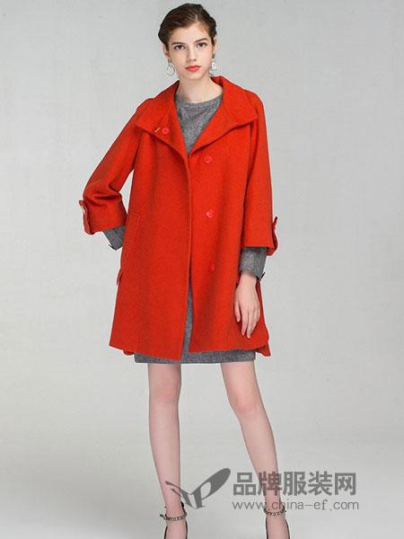 达点女装2018秋冬中长款羊羔毛女外套A字版型大衣