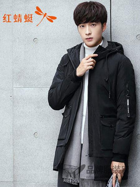 HONQRTG红蜻蜓男装2018冬季韩版潮流羽绒服中长款帅气个性羽绒服
