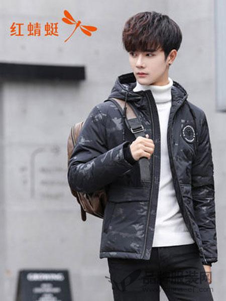 HONQRTG红蜻蜓男装2018冬季短款羽绒服潮流韩版帅冬装修身棉袄