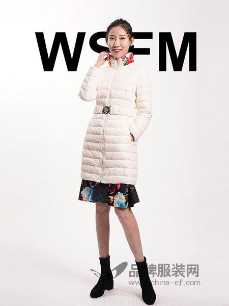 五色风马WSFM女装2018秋冬保暖长款过膝收腰羽绒服大衣外套