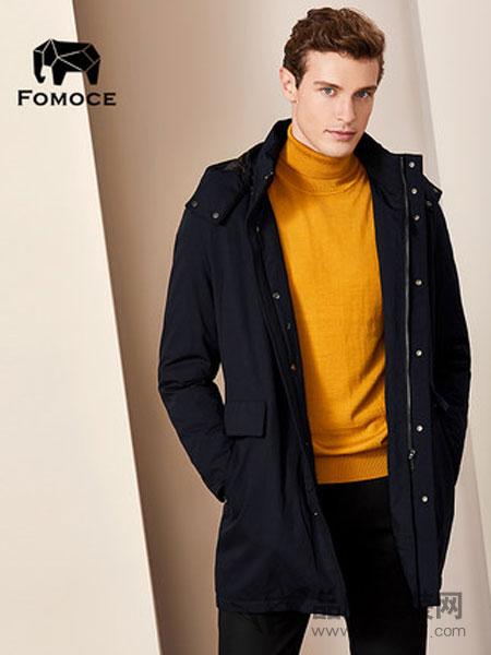 法曼斯(FOMOCE)男装2018冬季天丝羊毛混纺连帽加厚外套