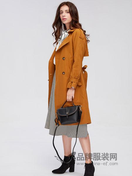城市衣柜女装2018秋冬风衣中长款休闲气质款外套上衣