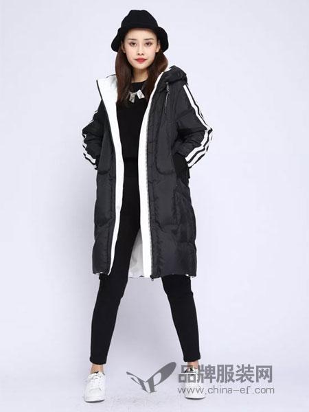 浩洋国际女装2018冬季韩版加厚面包服外套羽绒衣连帽学生